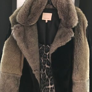 Fur rabbit/ velvet jacket by Rebecca Taylor M